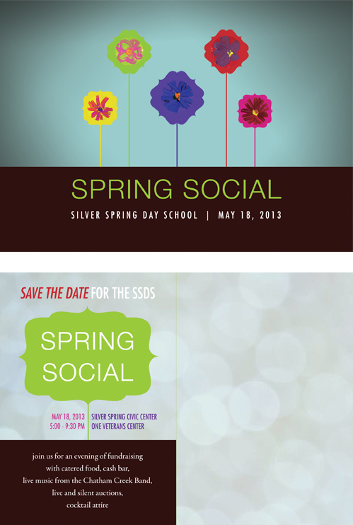 Invitation to Silver Spring Day School Spring Social