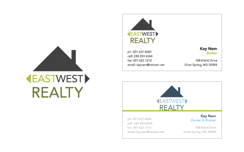 Logo and Business cards for East West Realty
