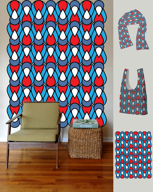 Tear Drop City, Threadless Pattern Submission