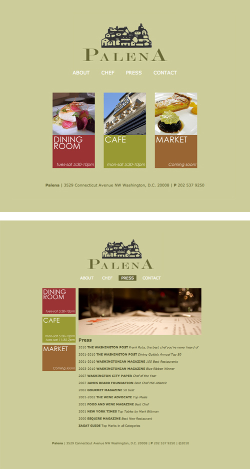 Palena's Website